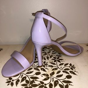 New York and Company purple patten leather heels